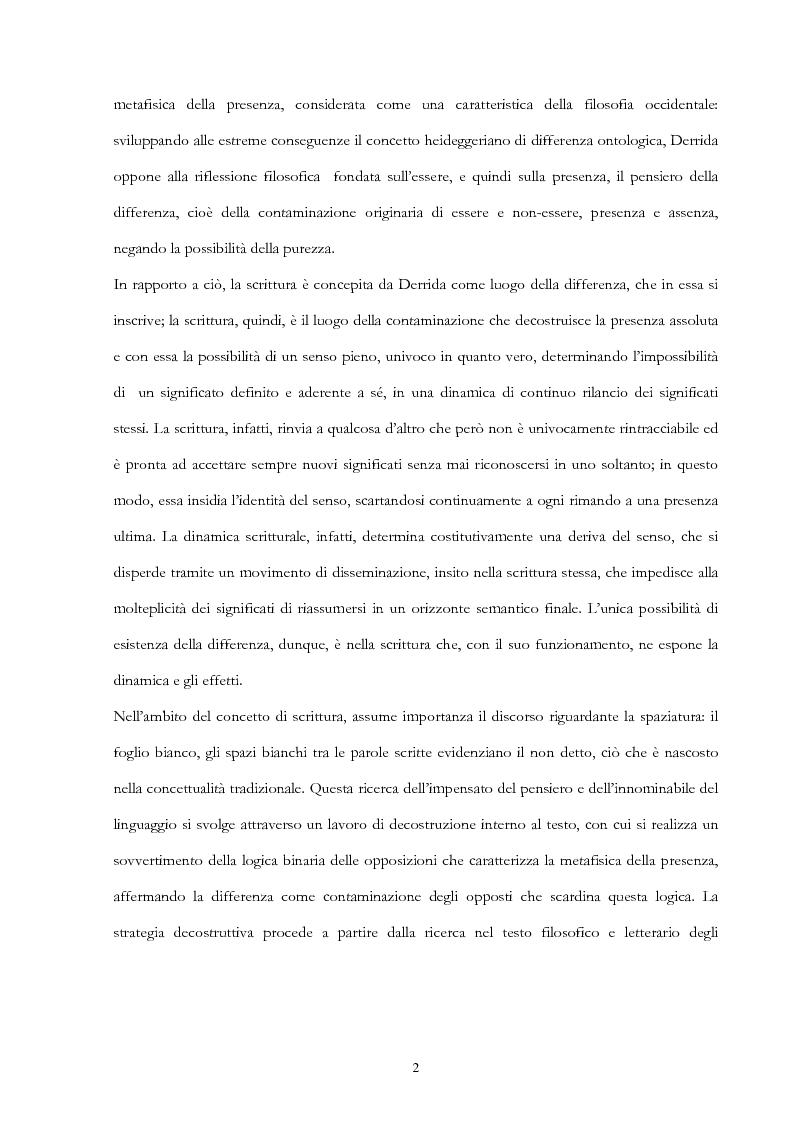 Anteprima della tesi: Derrida lettore di Mallarmé, Pagina 2