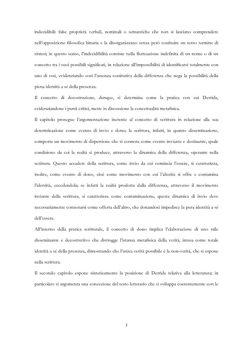 Anteprima della tesi: Derrida lettore di Mallarmé, Pagina 3
