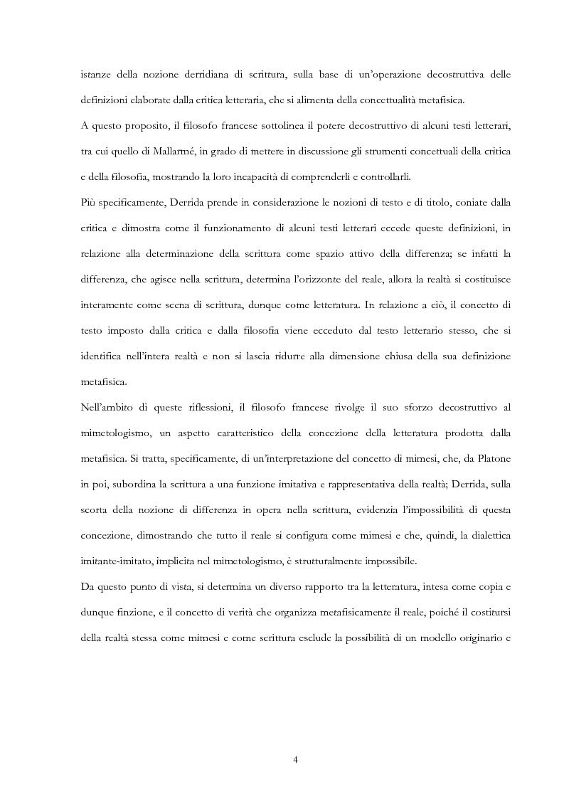 Anteprima della tesi: Derrida lettore di Mallarmé, Pagina 4