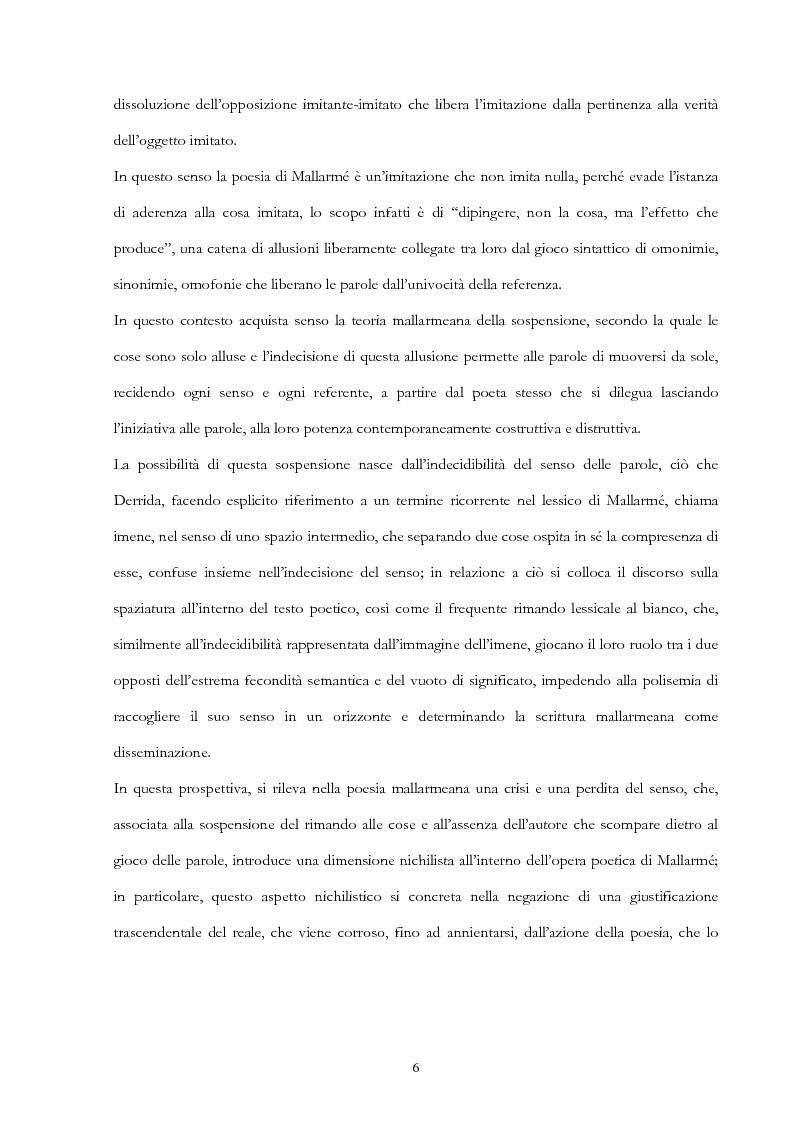 Anteprima della tesi: Derrida lettore di Mallarmé, Pagina 6