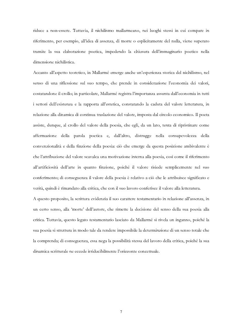 Anteprima della tesi: Derrida lettore di Mallarmé, Pagina 7