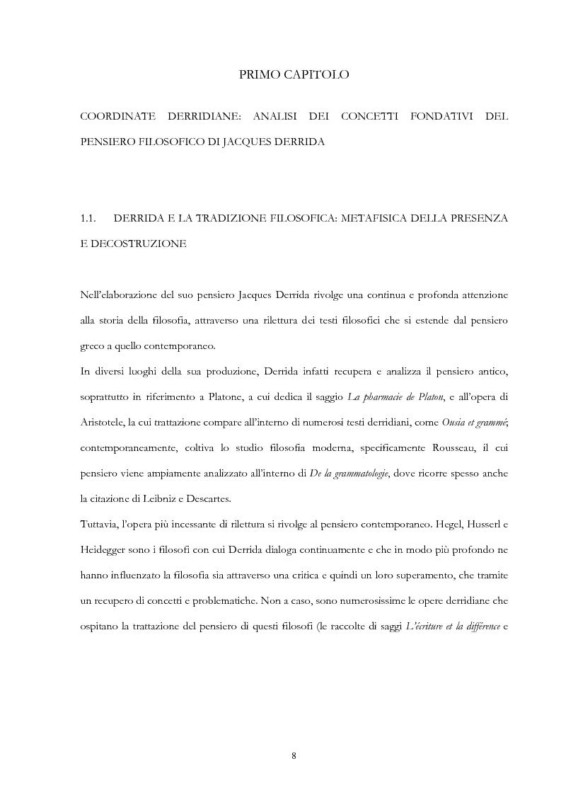 Anteprima della tesi: Derrida lettore di Mallarmé, Pagina 8