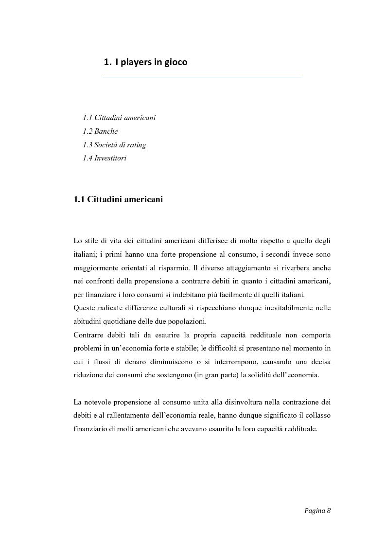 Anteprima della tesi: Gli effetti del credit crunch sull'economia mondiale ed italiana, con particolare riguardo al mondo bancario e finanziario, Pagina 1