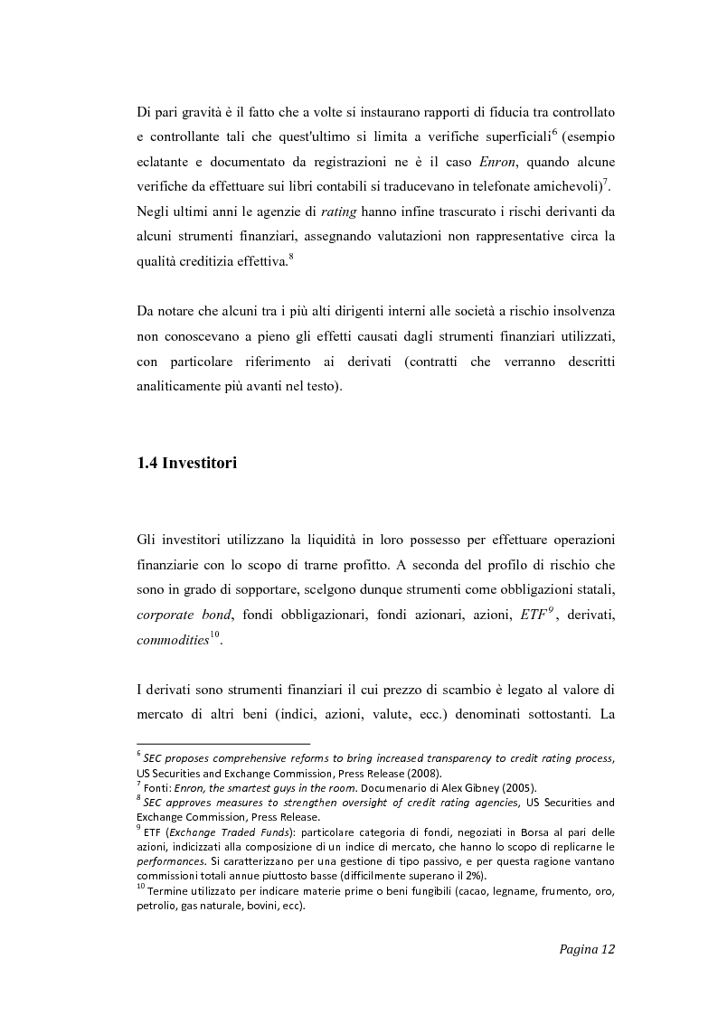 Anteprima della tesi: Gli effetti del credit crunch sull'economia mondiale ed italiana, con particolare riguardo al mondo bancario e finanziario, Pagina 5