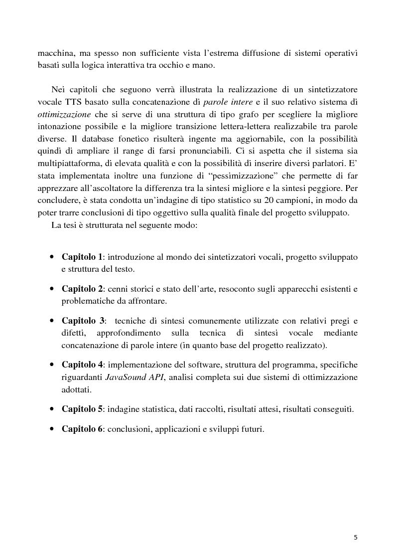 Anteprima della tesi: Sviluppo di un'interfaccia uomo - robot basata su sintesi vocale per concatenazione, Pagina 2