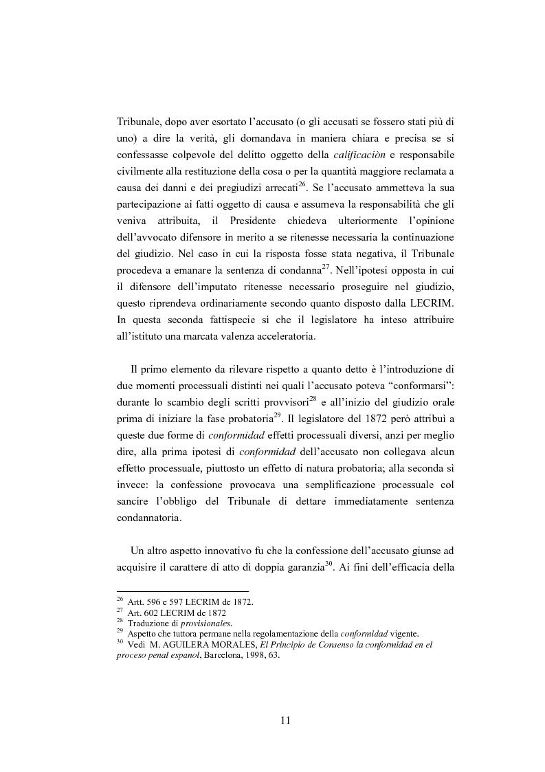 Anteprima della tesi: La ''Conformidad'' nel processo penale spagnolo, Pagina 11