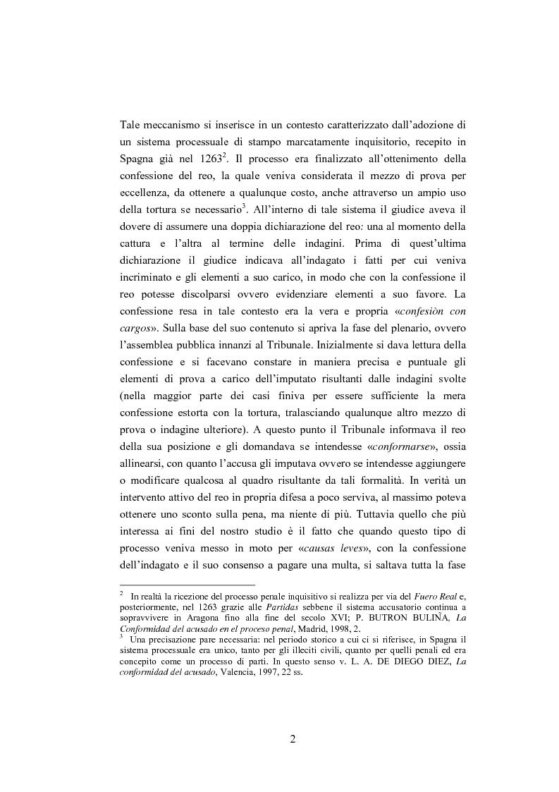 Anteprima della tesi: La ''Conformidad'' nel processo penale spagnolo, Pagina 2
