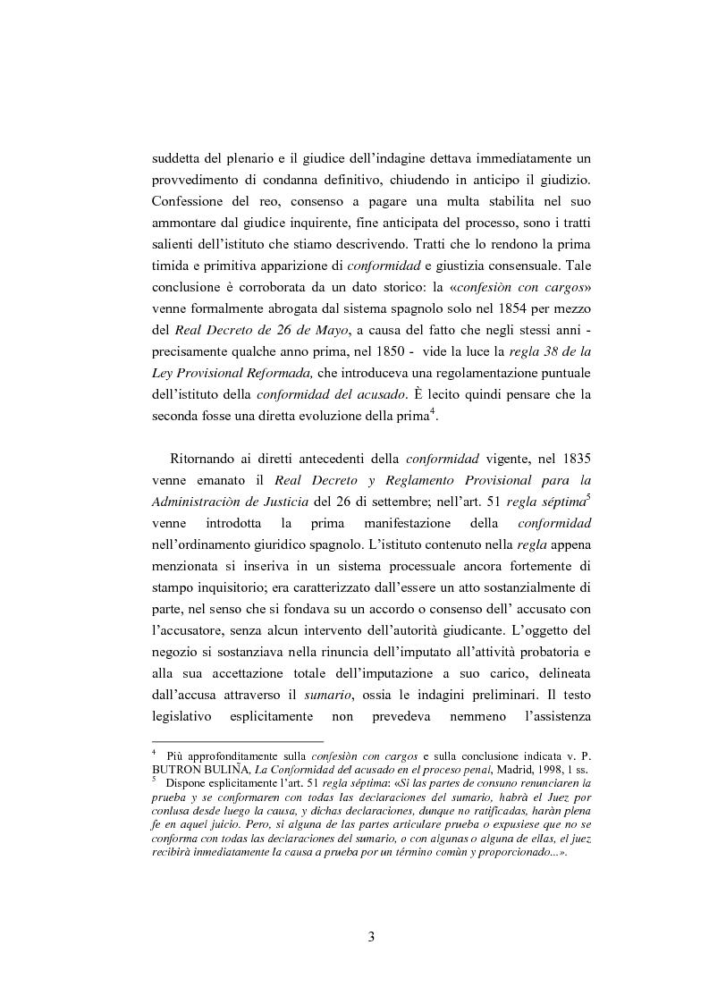 Anteprima della tesi: La ''Conformidad'' nel processo penale spagnolo, Pagina 3