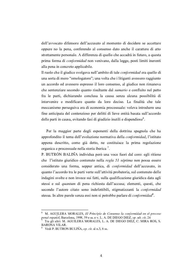 Anteprima della tesi: La ''Conformidad'' nel processo penale spagnolo, Pagina 4