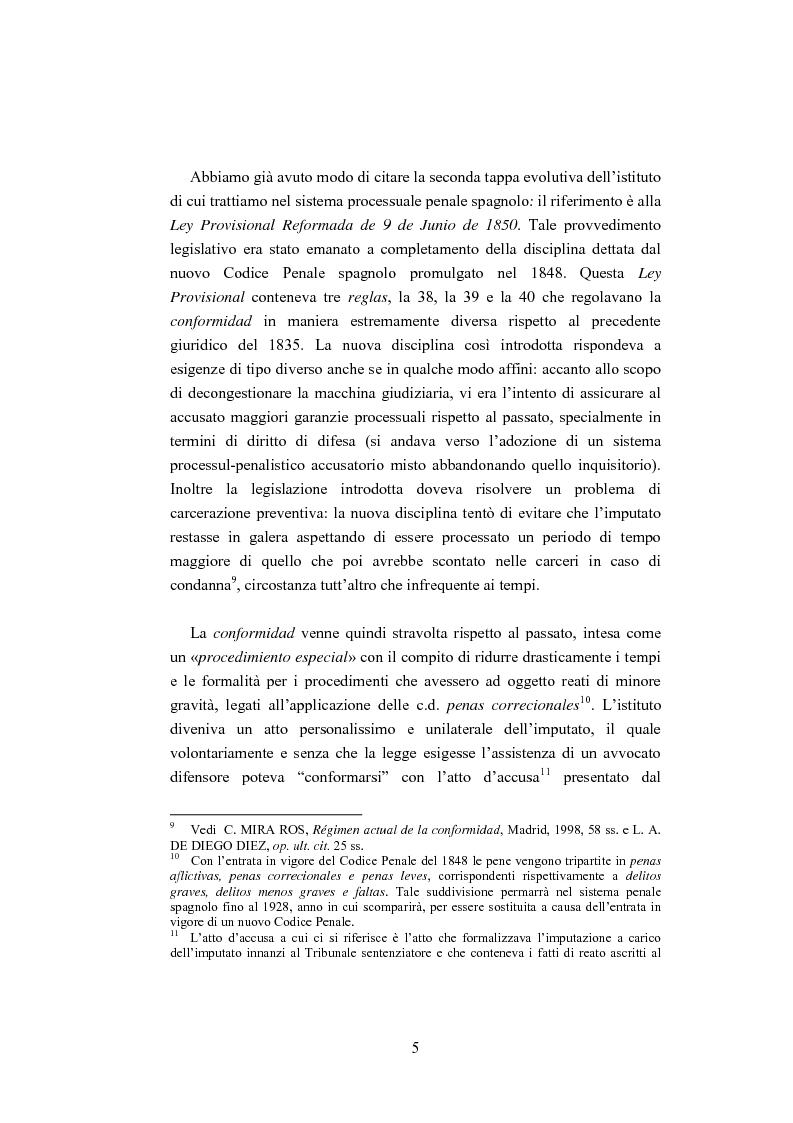 Anteprima della tesi: La ''Conformidad'' nel processo penale spagnolo, Pagina 5