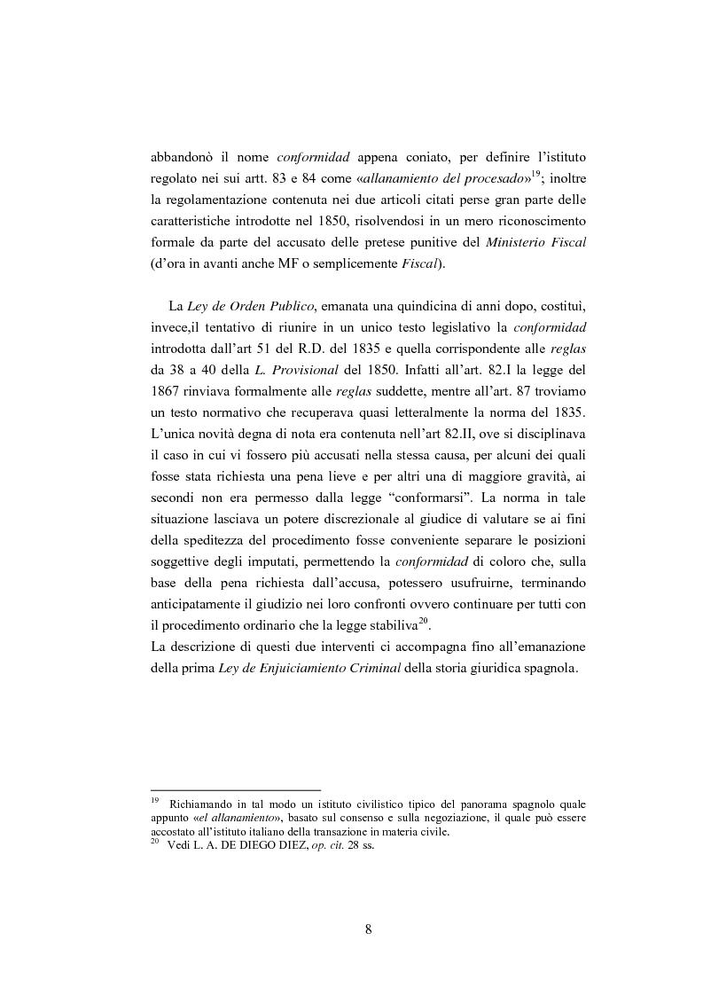 Anteprima della tesi: La ''Conformidad'' nel processo penale spagnolo, Pagina 8