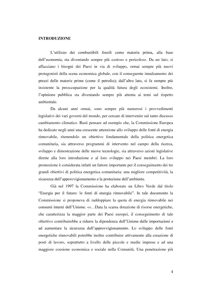 Anteprima della tesi: L'analisi del settore fotovoltaico nella provincia di Catania: lo scenario competitivo e le prospettive di sviluppo, Pagina 1