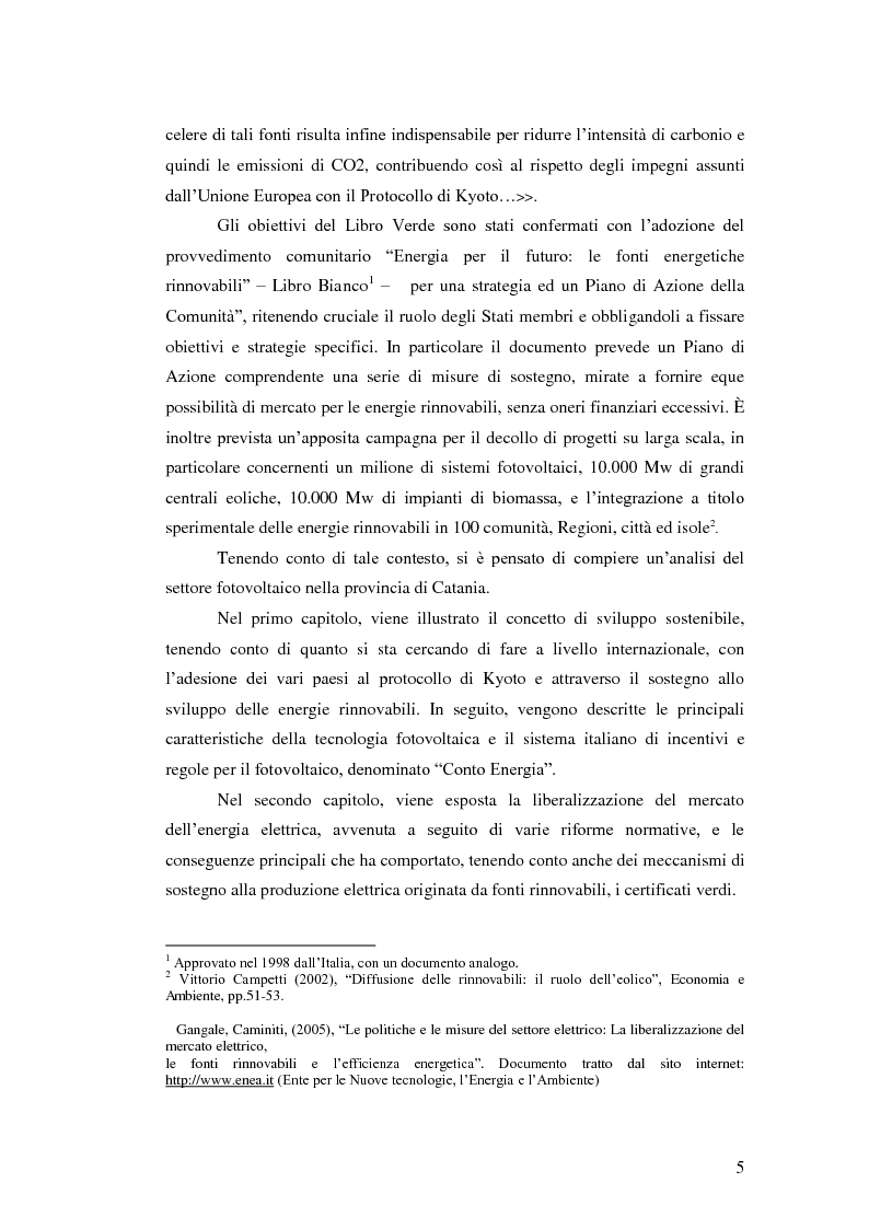Anteprima della tesi: L'analisi del settore fotovoltaico nella provincia di Catania: lo scenario competitivo e le prospettive di sviluppo, Pagina 2