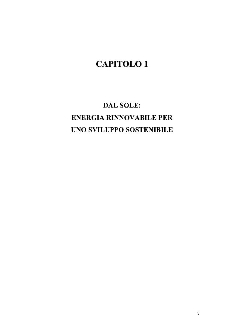 Anteprima della tesi: L'analisi del settore fotovoltaico nella provincia di Catania: lo scenario competitivo e le prospettive di sviluppo, Pagina 4