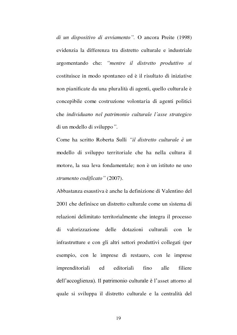 Anteprima della tesi: I distretti culturali: promozione e conservazione di nuove forme d'arte, Pagina 10