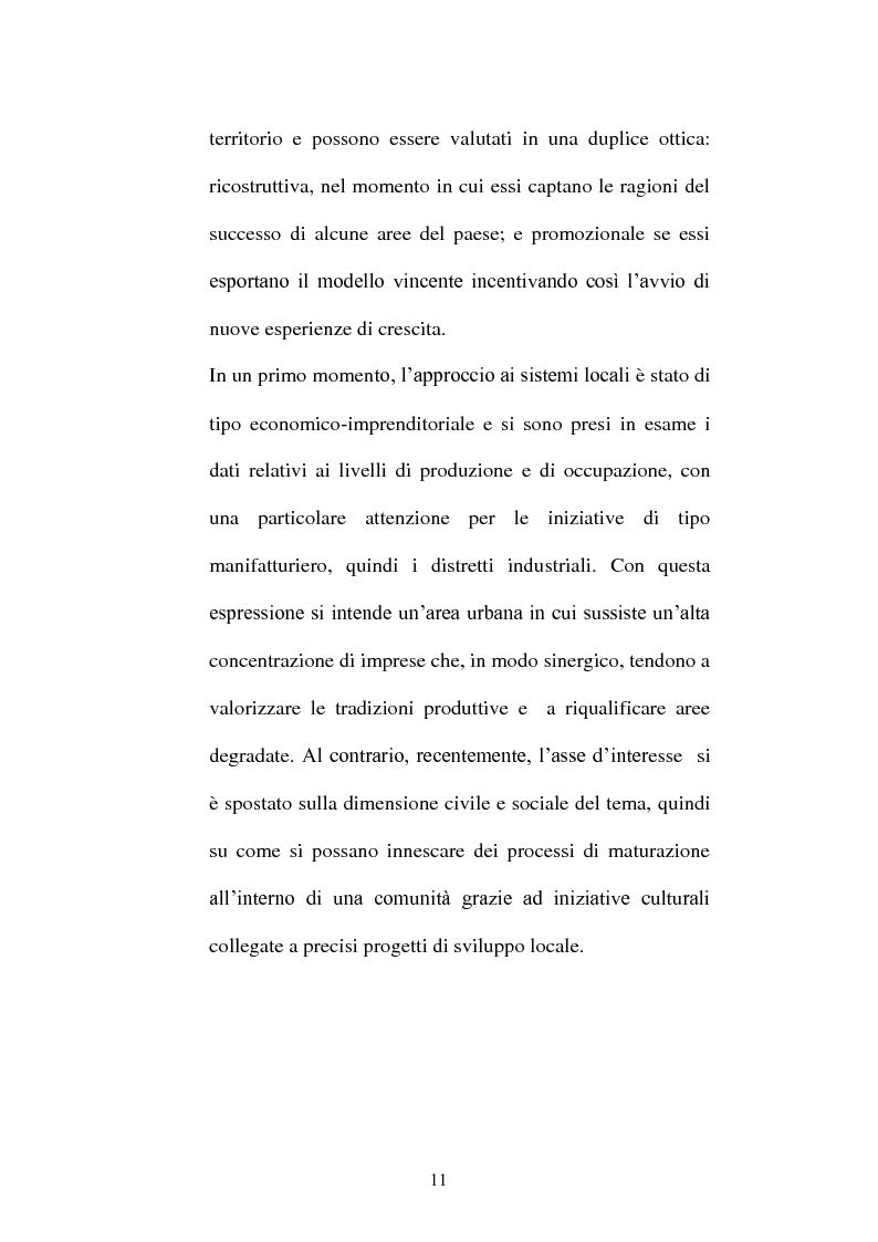 Anteprima della tesi: I distretti culturali: promozione e conservazione di nuove forme d'arte, Pagina 2
