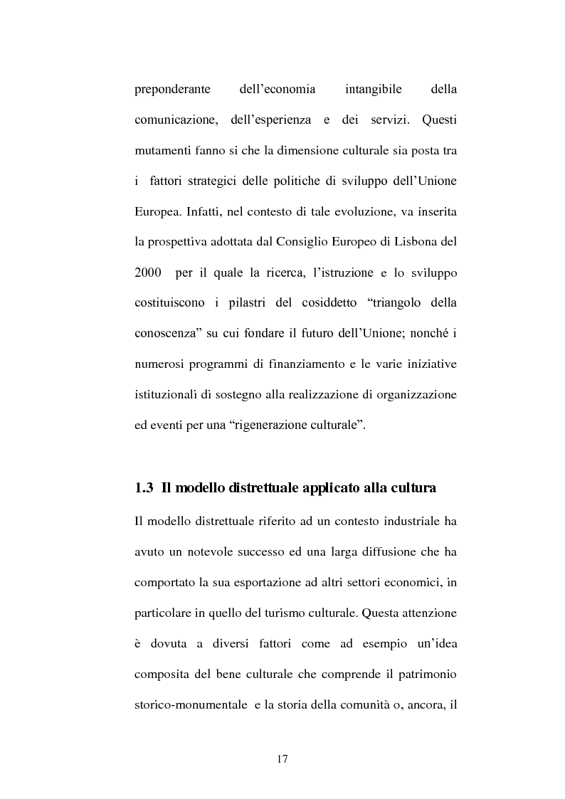 Anteprima della tesi: I distretti culturali: promozione e conservazione di nuove forme d'arte, Pagina 8