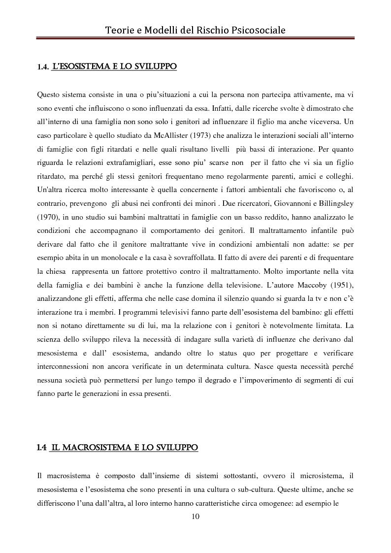 Anteprima della tesi: I modelli eziologici del rischio psicosociale: la situazione dei minori in Albania, Pagina 6