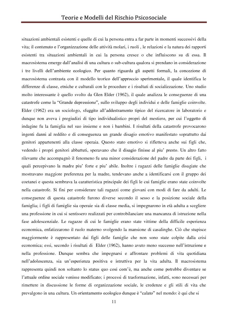 Anteprima della tesi: I modelli eziologici del rischio psicosociale: la situazione dei minori in Albania, Pagina 7