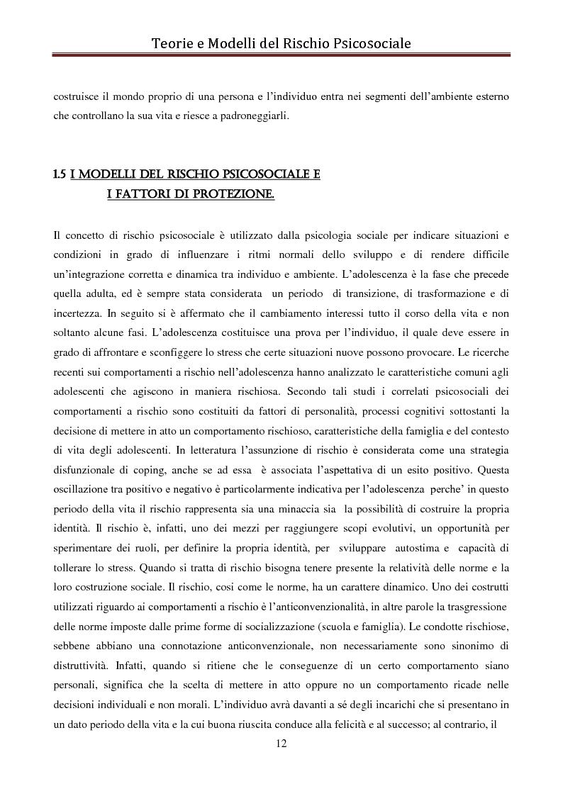 Anteprima della tesi: I modelli eziologici del rischio psicosociale: la situazione dei minori in Albania, Pagina 8