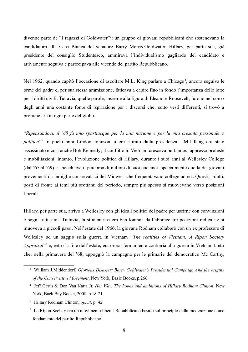 Anteprima della tesi: Hillary Rodham Clinton: l'importanza di essere prime, Pagina 4