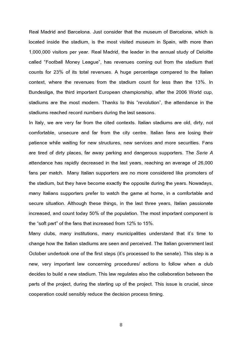 Anteprima della tesi: The future of the Italian stadiums: an empirical analysis, Pagina 2