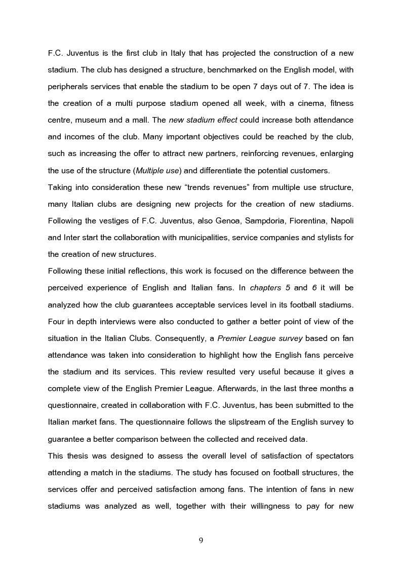 Anteprima della tesi: The future of the Italian stadiums: an empirical analysis, Pagina 3