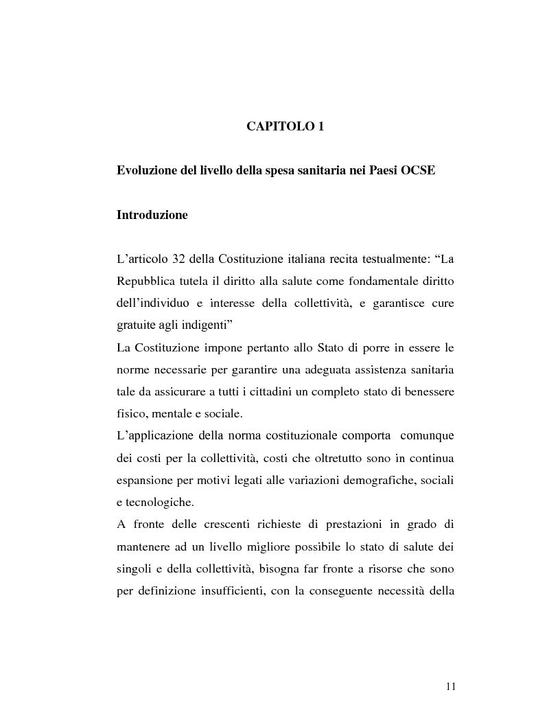 Anteprima della tesi: Le sponsorizzazioni nelle strutture sanitarie pubbliche, Pagina 1