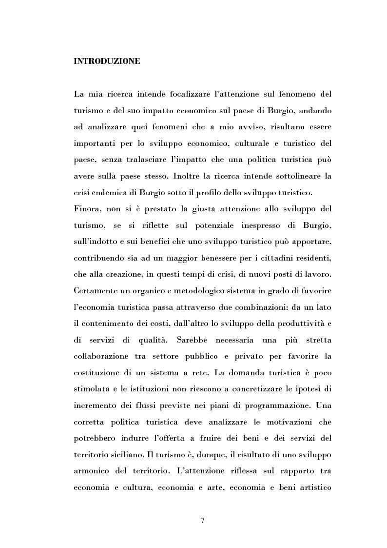 Anteprima della tesi: Ipotesi di sviluppo e valorizzazione di un'area geografica: il caso di Burgio, Pagina 2