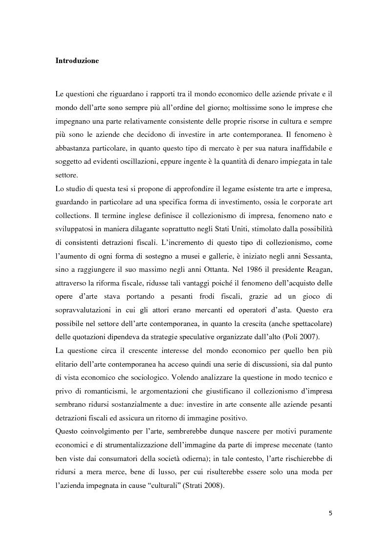 Anteprima della tesi: Corporate art collection: costo o investimento, Pagina 1
