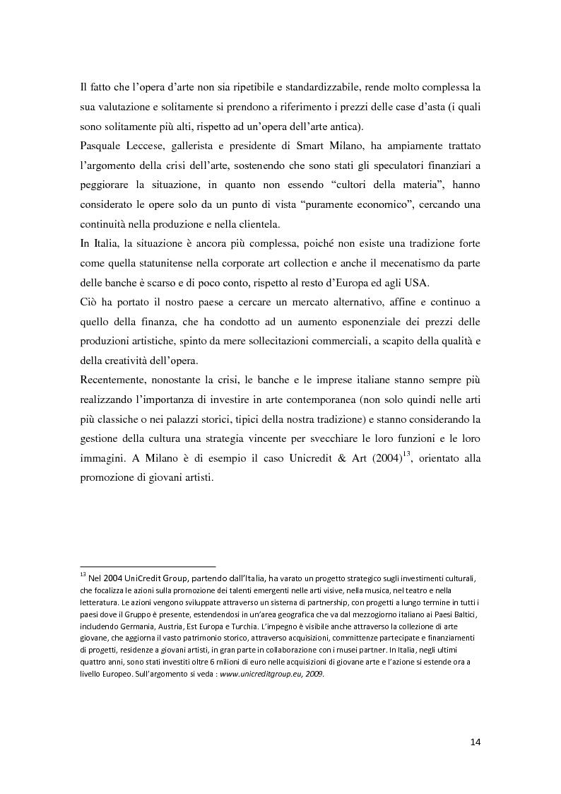 Anteprima della tesi: Corporate art collection: costo o investimento, Pagina 10