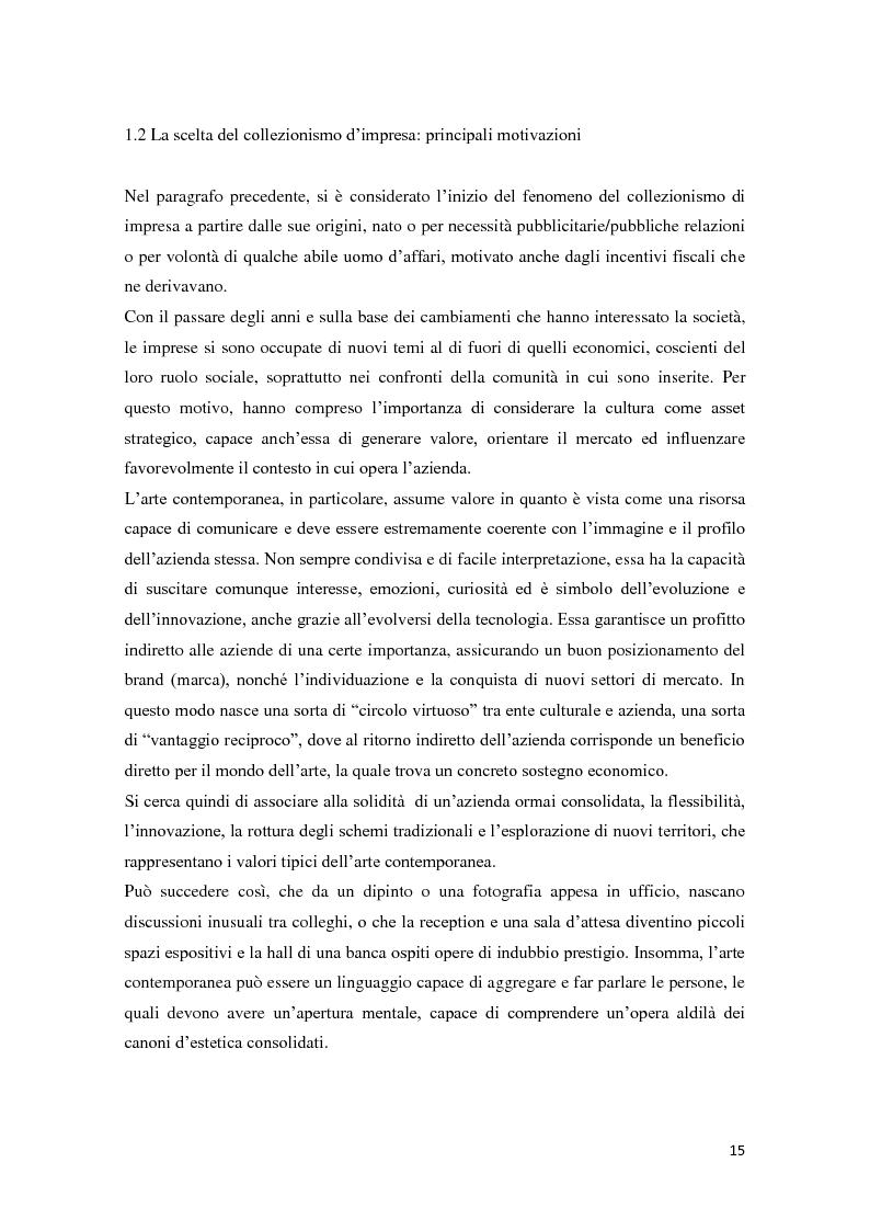 Anteprima della tesi: Corporate art collection: costo o investimento, Pagina 11