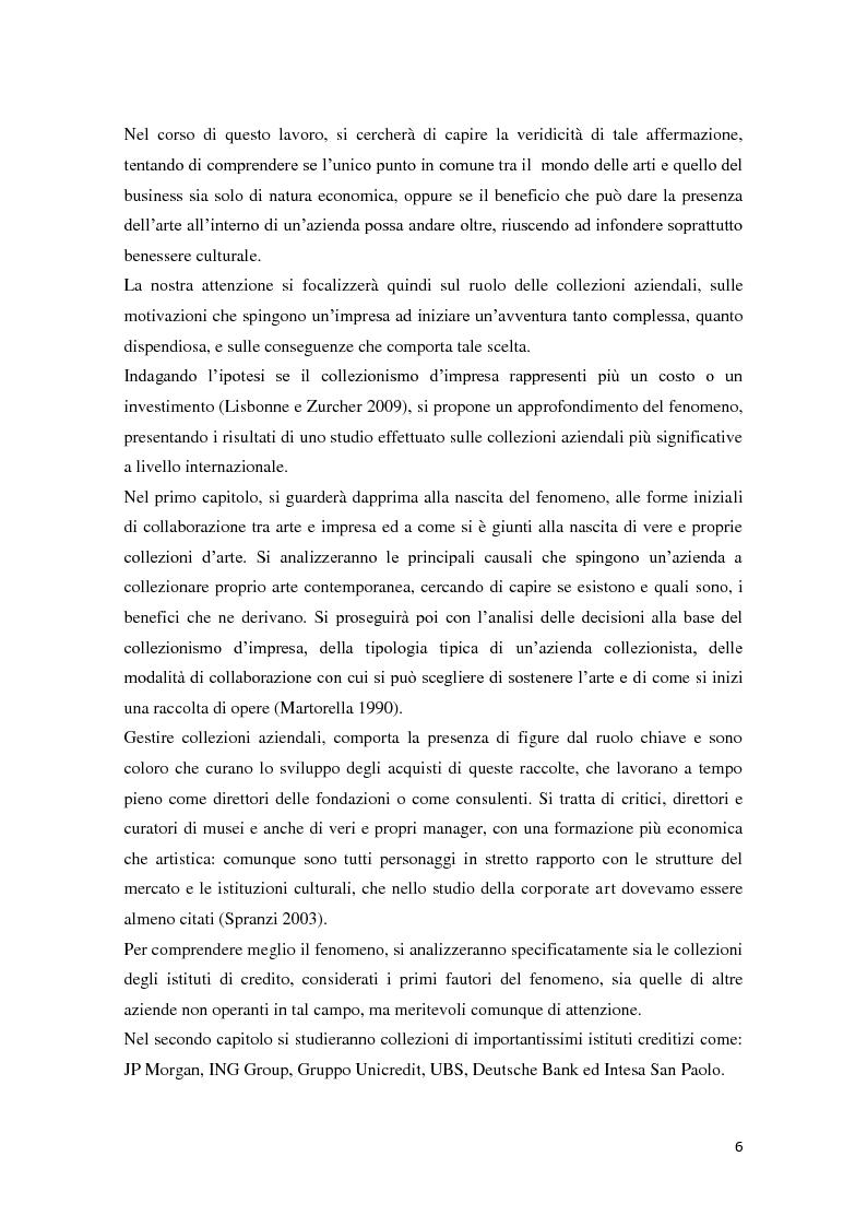 Anteprima della tesi: Corporate art collection: costo o investimento, Pagina 2