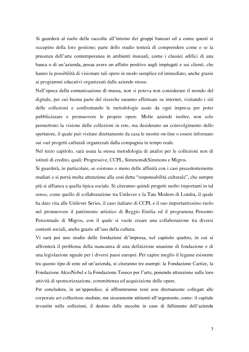 Anteprima della tesi: Corporate art collection: costo o investimento, Pagina 3