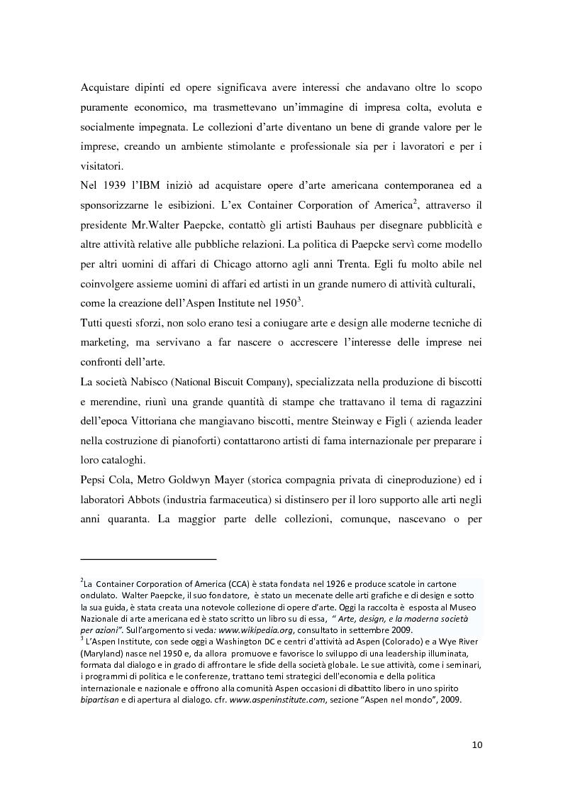 Anteprima della tesi: Corporate art collection: costo o investimento, Pagina 6