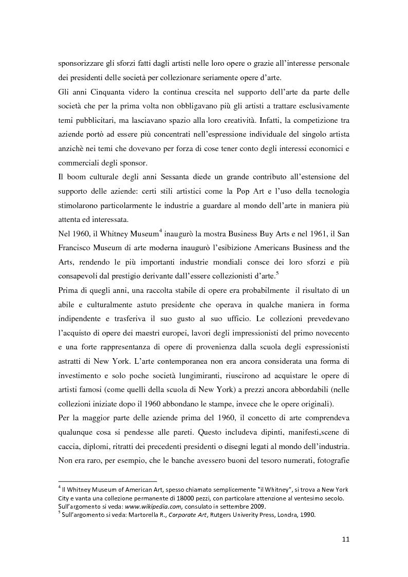 Anteprima della tesi: Corporate art collection: costo o investimento, Pagina 7