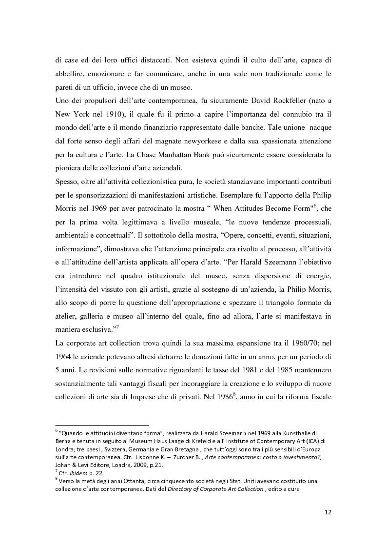 Anteprima della tesi: Corporate art collection: costo o investimento, Pagina 8