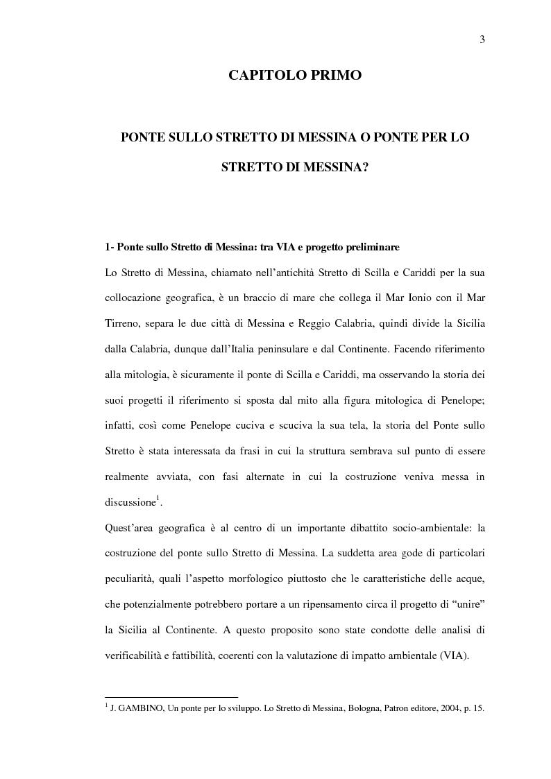 Anteprima della tesi: Il ponte sullo Stretto di Messina - Un ponte d'eccellenza per un territorio d'eccellenza, Pagina 3