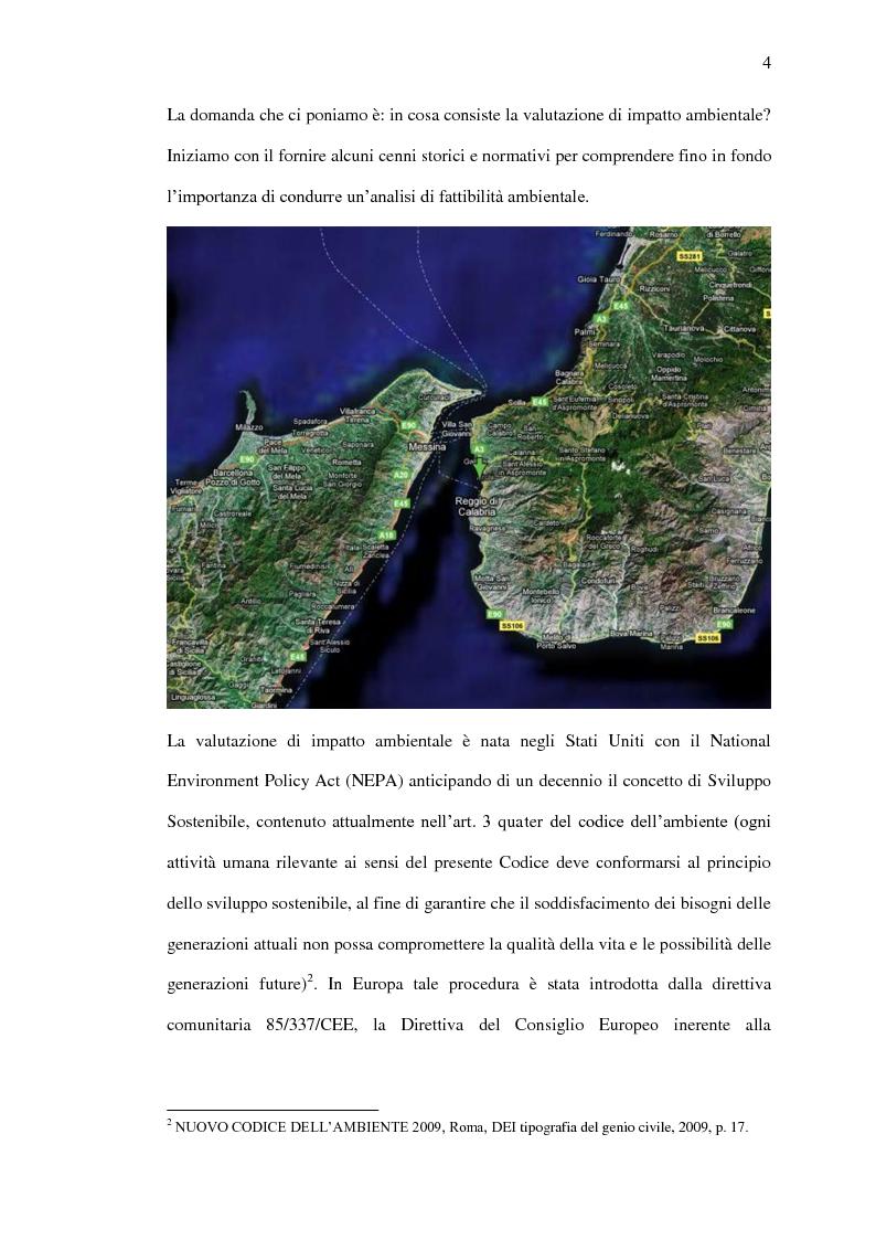 Anteprima della tesi: Il ponte sullo Stretto di Messina - Un ponte d'eccellenza per un territorio d'eccellenza, Pagina 4