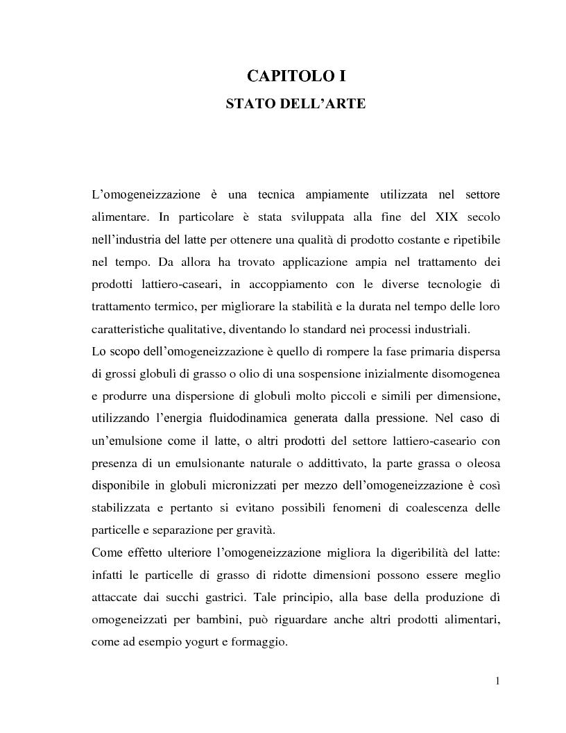 Anteprima della tesi: L'utilizzo dell'omogeneizzazione ad alta pressione nella produzione di bevande, Pagina 1