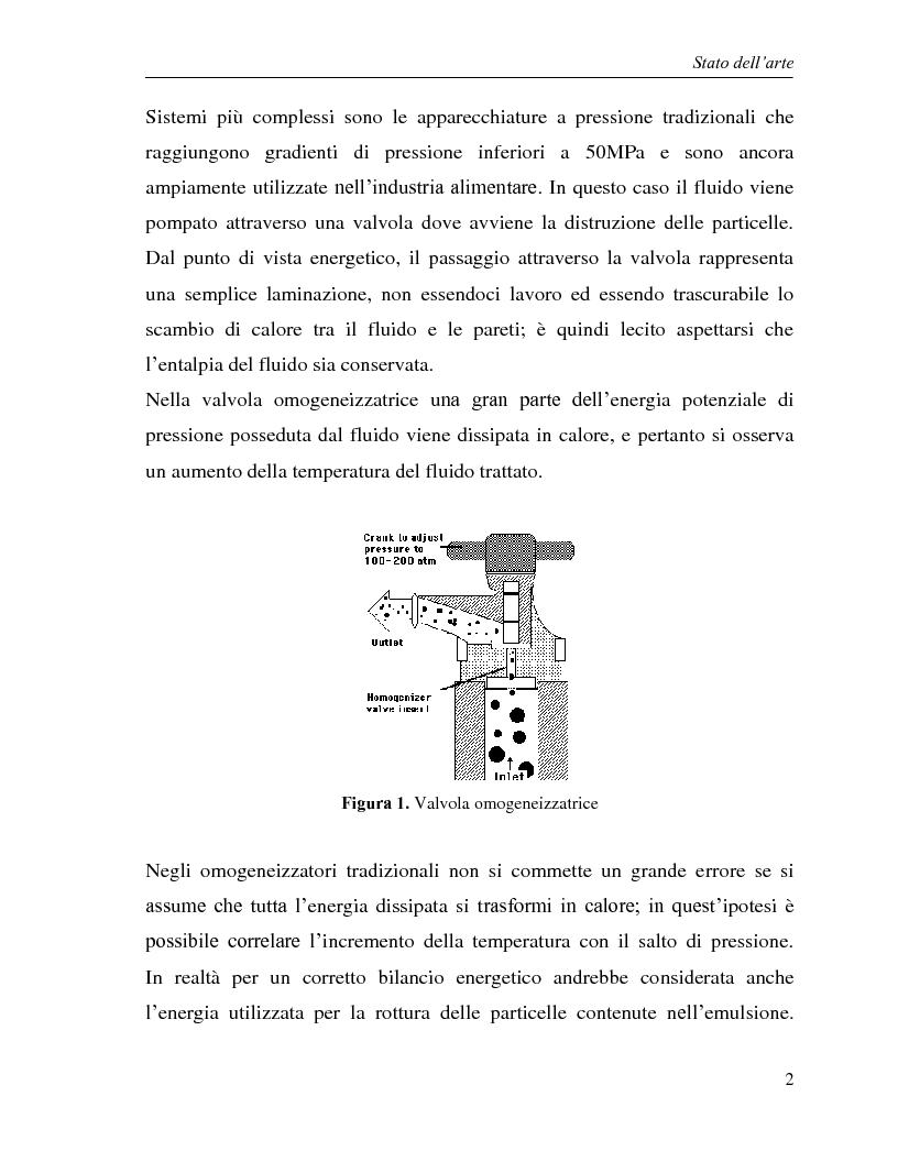 Anteprima della tesi: L'utilizzo dell'omogeneizzazione ad alta pressione nella produzione di bevande, Pagina 2