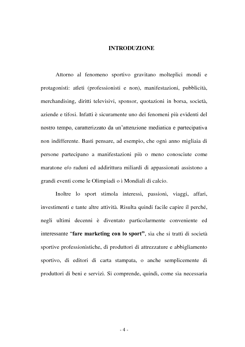 Anteprima della tesi: Co-marketing sportivo - Strategie di cooperazione. Il progetto Verde Sport S.p.A., Pagina 1