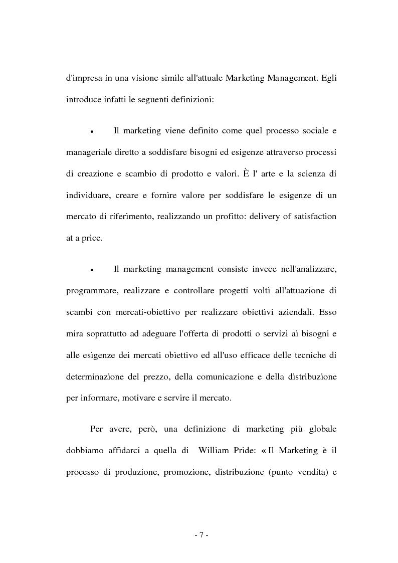 Anteprima della tesi: Co-marketing sportivo - Strategie di cooperazione. Il progetto Verde Sport S.p.A., Pagina 4