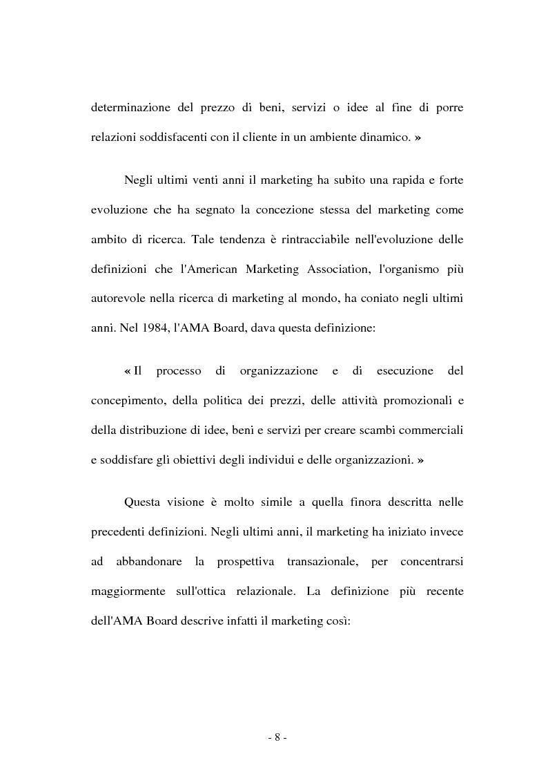 Anteprima della tesi: Co-marketing sportivo - Strategie di cooperazione. Il progetto Verde Sport S.p.A., Pagina 5