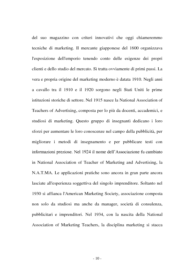 Anteprima della tesi: Co-marketing sportivo - Strategie di cooperazione. Il progetto Verde Sport S.p.A., Pagina 7