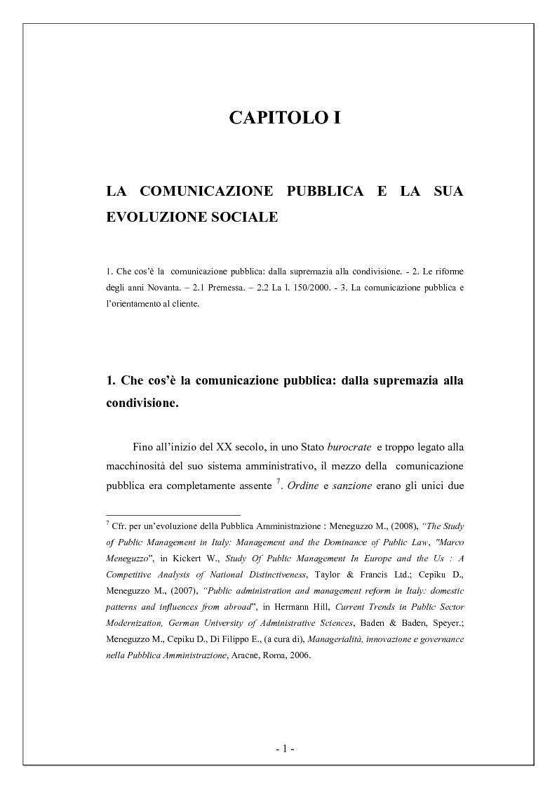 Anteprima della tesi: Comunicare la biodiversità - Il piano di comunicazione nelle pubbliche amministrazioni, Pagina 1