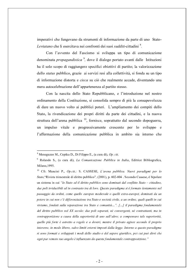Anteprima della tesi: Comunicare la biodiversità - Il piano di comunicazione nelle pubbliche amministrazioni, Pagina 2