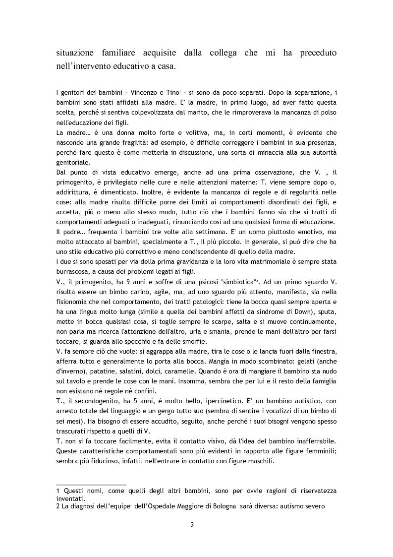 Anteprima della tesi: L'osservazione e la valutazione nell'intervento educativo con i bambini autistici, Pagina 2