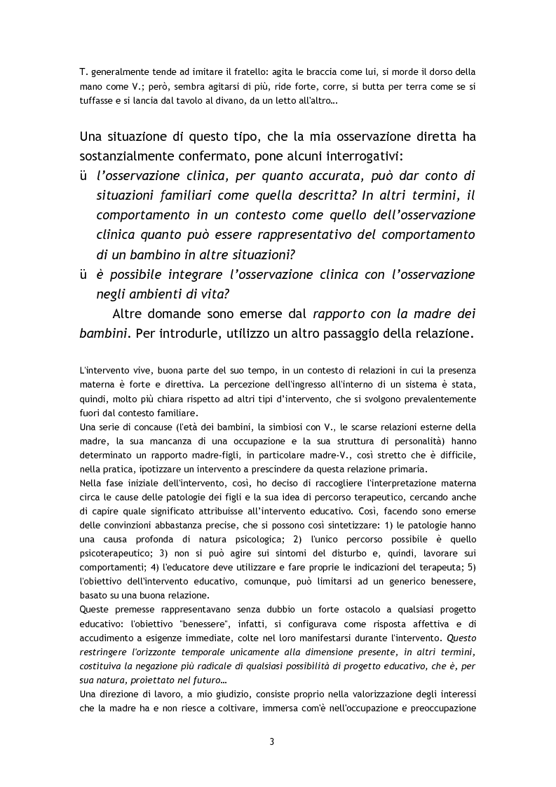 Anteprima della tesi: L'osservazione e la valutazione nell'intervento educativo con i bambini autistici, Pagina 3