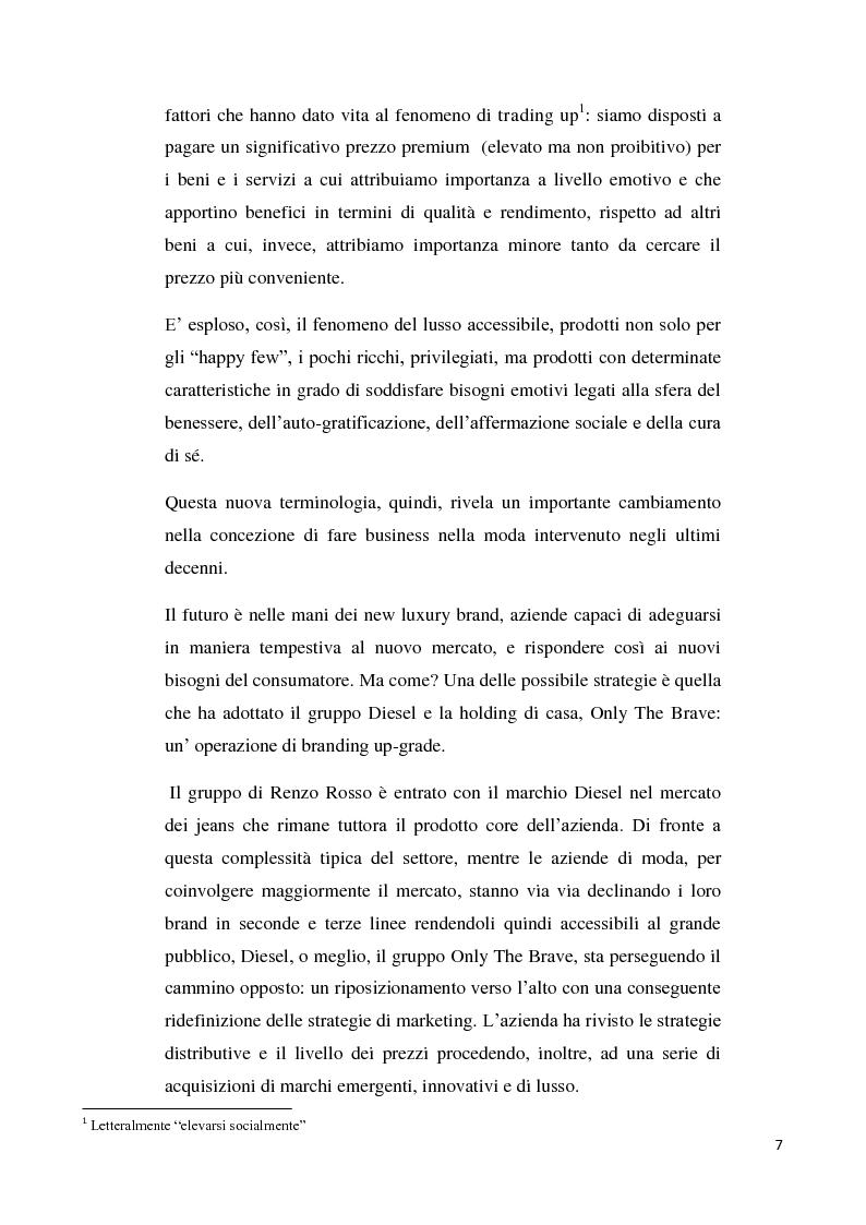 Anteprima della tesi: Branding up grade: il caso Diesel, Pagina 2